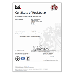 Phase 3 ISO 9001 Certificate