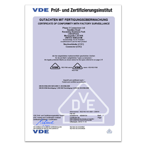 Powersafe VDE Approval Certificate