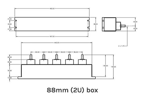 88mm (2U) Box